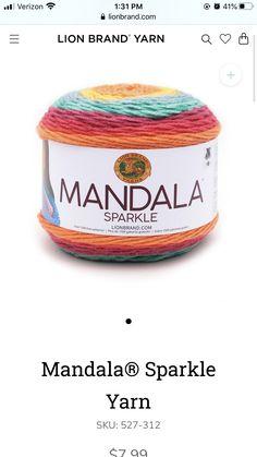 Lion Brand Yarn, Coffee Cans, Sparkle, Pattern, Food, Patterns, Essen, Meals, Model