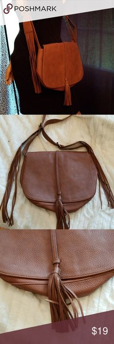 EXPRESS Fringe Messenger Bag Boho/ Festival Ready Simply amazing and flows with you fringe messenger bag.  Looks brand new except for top inside as shown in pics. Express Bags Crossbody Bags