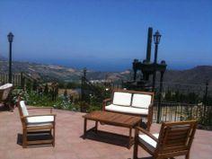 terrace with sea view. Villa Rica, Sicily #villarica, #sicily