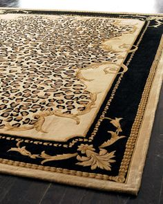 """Delicate Leopard Leaf"" Rug at Neiman Marcus."
