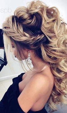 Featured Hairstyle: Elstile; Wedding hairstyle idea.