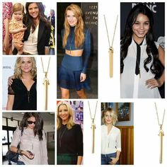 stella & dot Rebel Pendant as seen on celebrities. available in gold, rose gold, and silver. www.stelladot.com/kzb