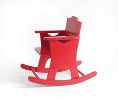 Vintage Children's Rocking Chair - Modern, Wood, Rocker. $60.00, via Etsy.
