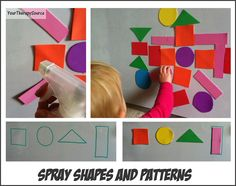 Spray Shapes and Patterns helps with hand strengthening, wrist extension,