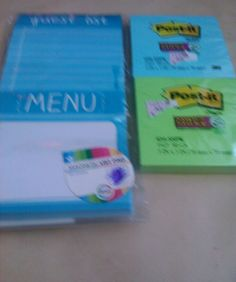 2 packs of Post It Stick Notes and 1 Pack of Guest List Menu Pad #PostItStickyNotes