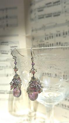 fairy #cluster #amethyst #earrings