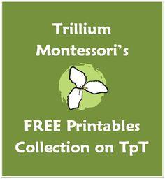 Trillium Montessori's Free Printables on TpT