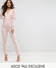 Buy Hot Pink Asos tall Long jumpsuit for woman at best price. Compare Jumpsuits prices from online stores like Asos - Wossel Global Long Jumpsuits, Playsuits, Jumpsuits For Women, Wrap Jumpsuit, Pink Jumpsuit, Latest Fashion Clothes, Fashion Online, Fashion Outfits, Style