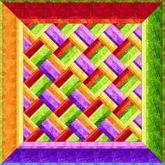 Prints :: Products :: Fabri-Quilt, Inc. Its a Small World using Global Brights