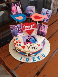 46 Best 1st Anniversary Cake Images Birthday Cakes Fondant Cakes