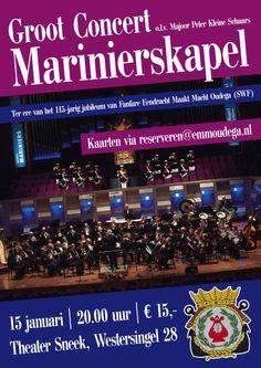 15 januari   Marinierskapel in Theater Sneek