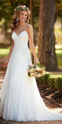 Stella York Sexy Lace Wedding Dress style 6282 a / http://www.deerpearlflowers.com/stella-york-fall-2016-wedding-dresses/3/