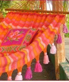 Pink and Orange Hammock