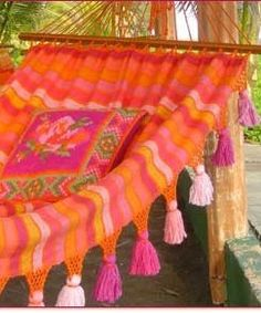 Pink and Orange Hammock