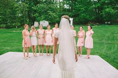 Lovely bridesmaids shot by @Lauren Fair