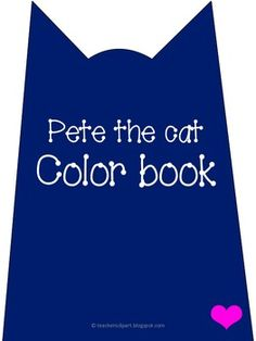 FREE Pete the cat color book for practicing color and counting. The clipart used is available on my store Pete the cat clip art ...