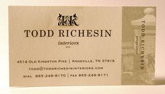 Engraved business card, with offset printing on right side and blind embossed logo at the top. Printed on heavy weight cardstock. Designed and printed at Larry B. Newman Printing Company.