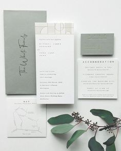 Rustic and green wedding invites wedding stationery graphic design inspiration elegant and modern stylish wedding invitation suite the loveliest watercolor wedding invitations Minimalist Wedding Invitations, Green Wedding Invitations, Rustic Invitations, Wedding Invitation Design, Invitation Wording, Wedding Branding, Invitation Kits, Modern Wedding Stationery, Event Invitations