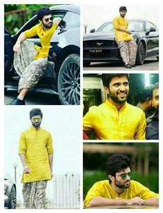 Vijay Devarakonda South Hero, Vijay Actor, Baby Boy Dress, Mens Kurta Designs, Frock For Women, Vijay Devarakonda, Cute Cartoon Pictures, Gents Fashion, Groom Looks