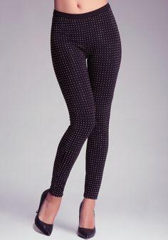bebe   Crystal Studded Leggings - Bottoms - Leggings