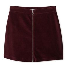 Zipped Cotton Skirt (50 BRL) ❤ liked on Polyvore featuring skirts, bottoms, clothes - skirts, faldas, brown cotton skirt, mango skirt, brown skirt, zip skirt and cotton skirts