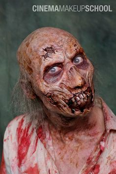 Makeup done by Michael Spatola during the Zombie Seminar held at CMS