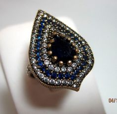 Sterling Silver Blue Sapphire Ring Size 8 #Unbranded #Personality