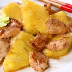 An easy Stir Fry Chicken Recipe with a sweet and tangy flavor.. Stir Fry Chicken and Fresh Pineapple Recipe from Grandmothers Kitchen.