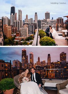 Wedding Creativo Photography Chicago Rooftop Portraits At Public