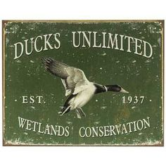 Ducks Unlimited Tin Sign