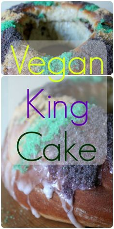 Housevegan.com: Vegan King Cake - Fat Tuesday is next Tuesday, and that got me thinking about King Cake and how delicious it is! My recipe is an oldie, but definitely still a goodie. #mardigras #fattuesday #neworleans #kingcake