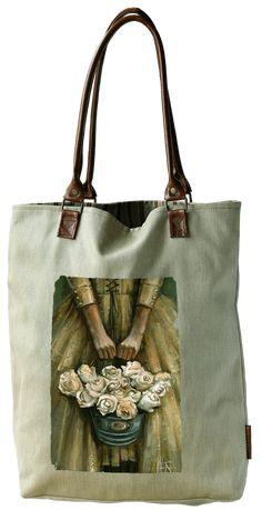Bull Denim Bag - Sailboat of Hope Rose Bulls, South African Artists, Denim Bag, Sailboat, Shopping Bag, Reusable Tote Bags, Faith, Purses, Leather