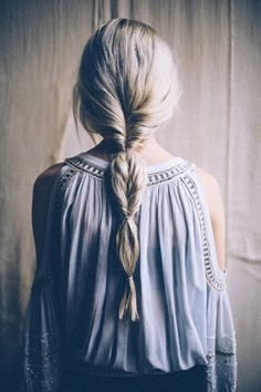 Quick fake fishtail hairstyle