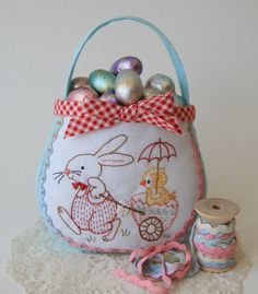 Bunny Bag with eggs