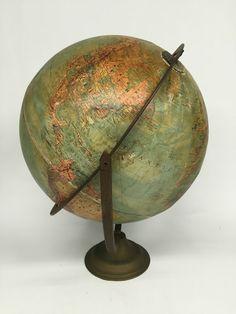 Antique World Globe, Replogle Globe, Stereo Relief Globe, Desk Globe, Vintage… Desk Globe, Vintage Office Decor, World Globes, Star Wall, School Daze, Number 5, We Fall In Love, Compass, Maps