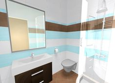 Fürdőszoba burkolati terve Zalakerámia  Kendo csempével Corner Bathtub, Bathroom Lighting, Curtains, Shower, Mirror, Tile, Furniture, Home Decor, Insulated Curtains
