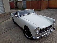 eBay: MG Midget 1972 round wheel arch in old English white #classicmg #mg #mgoc Mg Midget, Mg Cars, Old English, Porsche 911, Classic Cars, Arch, Car Sales, Vehicles, Ebay