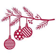 Silhouette Design Store - View Design #164731: christmas ornament branch