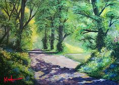 My favourite walk Hanging Paintings, Artwork Display, Acrylic Art, Landscape Art, Woodland, Kit, Gallery, Landscape