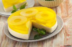 Pudim frio de ananás