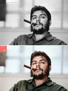 Restoration and restoration of photos Che Guevara T Shirt, Che Guevara Quotes, Photo Restoration, Power Trip, Patricia Arquette, Robin Wright, Martin Parr, Roy Lichtenstein, Robert Capa