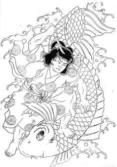 귀약환 Japanese Drawings, Japanese Prints, Japanese Art, Samurai Tattoo, Samurai Art, Skeleton Drawings, Japanese Warrior, Traditional Japanese Tattoos, Japan Tattoo