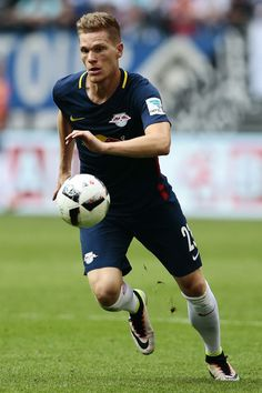 Marcel Halstenberg of Leipzig in action during the Bundesliga match between…