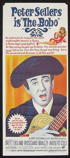 The Bobo (1967) USA Warner Stars: Peter Sellers, Britt Ekland, Rossano Brazzi, Adolfo Celi. 12/11/03
