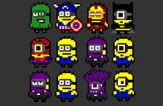 Minion Superheroes  Mini Hama Beads Accessory by TheKnottyLoft, $3.50