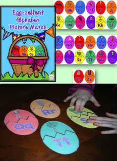 $ This egg-cellent activity is perfect for the spring or anytime of year! Simply laminate (for durability) and cut out the eggs and then cut along the zig zag line. Children match the picture to the beginning letter sound by pairing up the top half (the picture) to the bottom half (the letter). Perfect for centers, additional support, at home practice, or place with the other puzzles in your classroom!