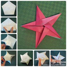 Five-pointed star (from a pentagon-shaped paper)
