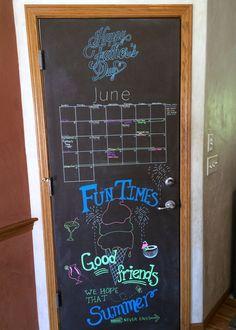 June 2014 Chalkboard Calendar