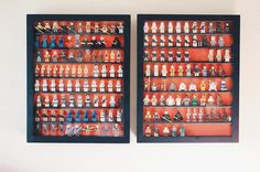 As my minifigure collection kept growing I was very often forced to just store them in my cabinet. I wanted something to display my minifigures in so I looked and looked everywhere but nothing. Eventually I found a great solution: shadowboxes. Now I can finally display all of minifigures and keep them dust-free as well! I'll be building a 3rd one this week for TFA minifigures . How do you display your minifigures?  #legominifigures #legostagram #instalego #legophotography #legography…