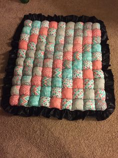 Bubble quilt tummy time mat bisquit quilt by CraftynurseRN on Etsy